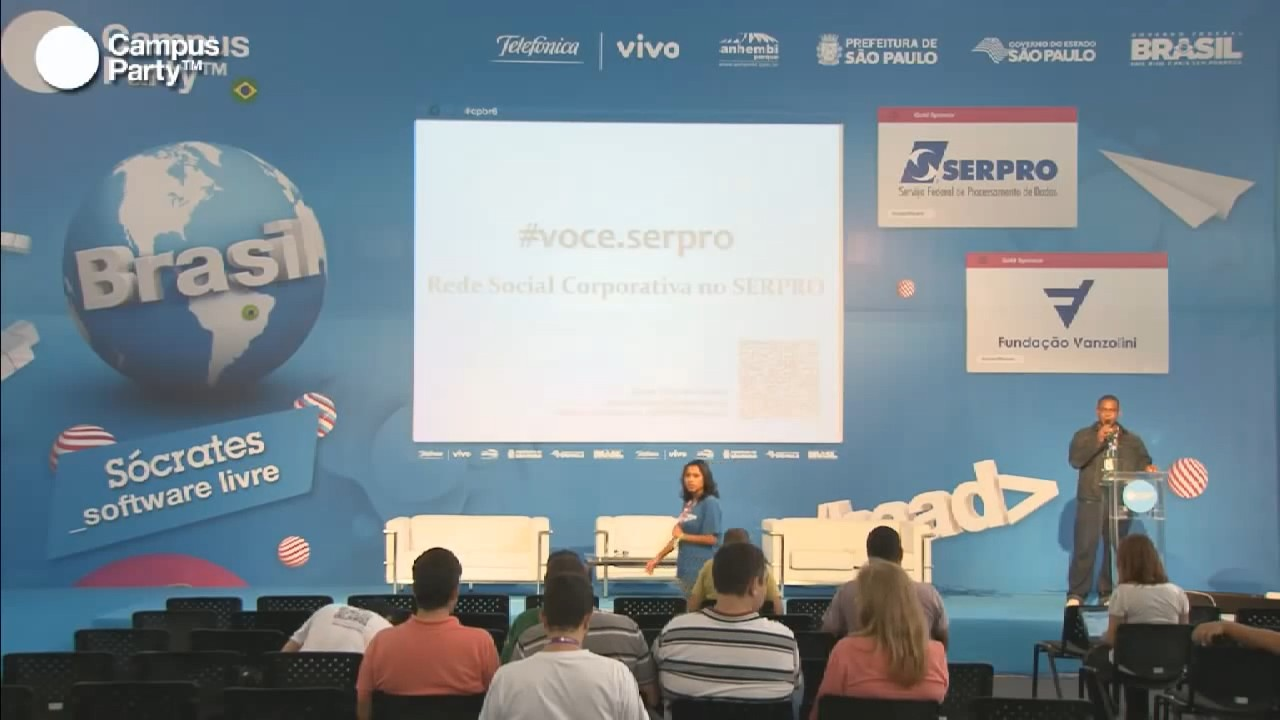 Image from A rede social livre corporativa do Serpro