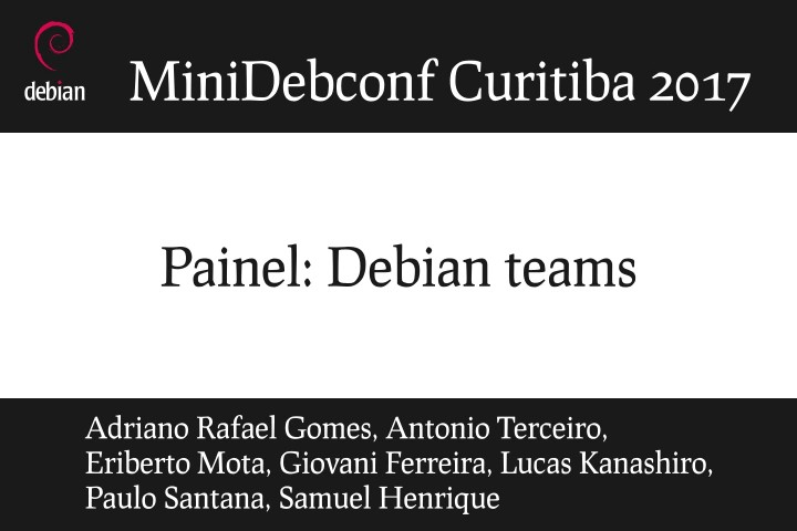 Image from Painel: Debian Teams