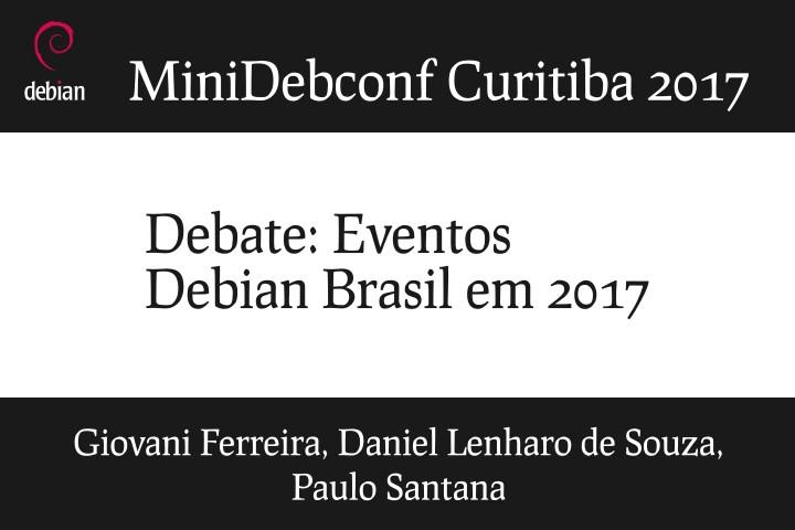 Image from Painel: Eventos Debian Brasil em 2017