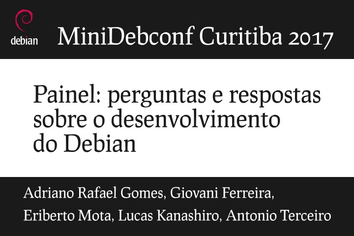 Image from Painel: perguntas e respostas sobre o desenvolvimento do Debian